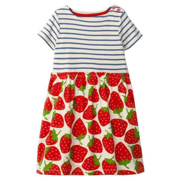 Bambinilooks-Bambini-Kidslooks-Kids-Girls-Dress-Short-Sleeve-Spring-Strawberries