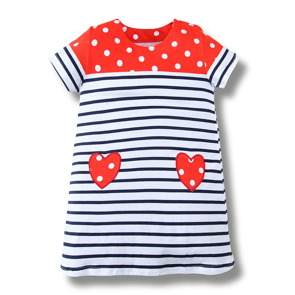 Bambinilooks-Bambini-Kidslooks-Kids-Girls-Dress-Short-Sleeve-Strawberry