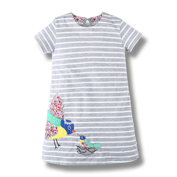 Bambinilooks-Bambini-Kidslooks-Kids-Girls-Dress-Short-Sleeve-Two-Birds