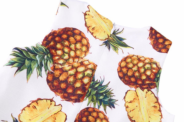 Bambinilooks-Bambini-Kidslooks-Kids-Girls-Dress-Sleeveless-Pineapple-Close-Up-Back-Zipper
