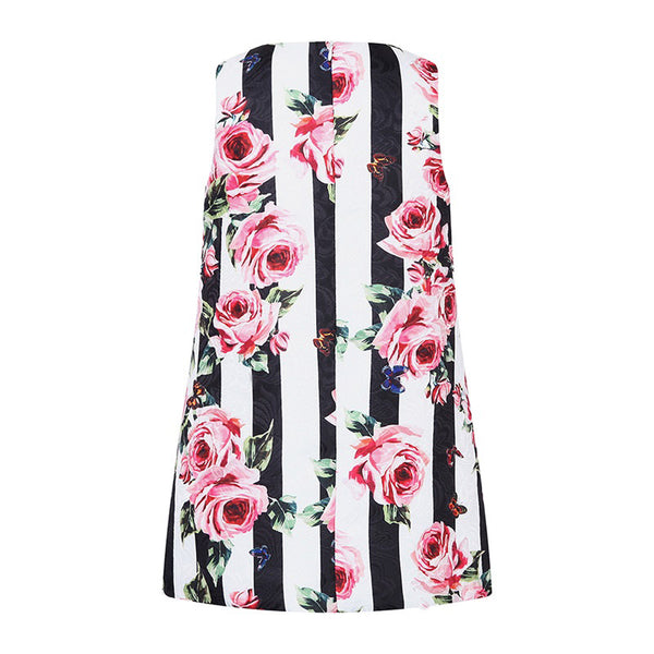 Bambinilooks-Bambini-Kidslooks-Kids-Girls-Dress-Sleeveless-Roses-Back