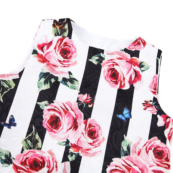 Bambinilooks-Bambini-Kidslooks-Kids-Girls-Dress-Sleeveless-Roses-Close-Up-Front