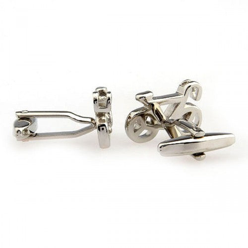 Bicycle-Bike-Silver-Modalooks-Cufflinks-Side-View