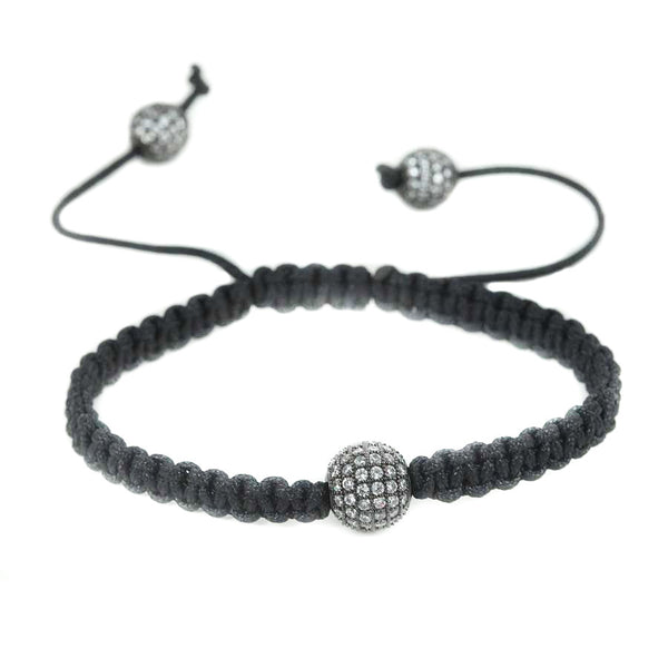 Modalooks-CZ-Diamond-Ball-Ruthenium-Plated-Shamballa-Bracelet