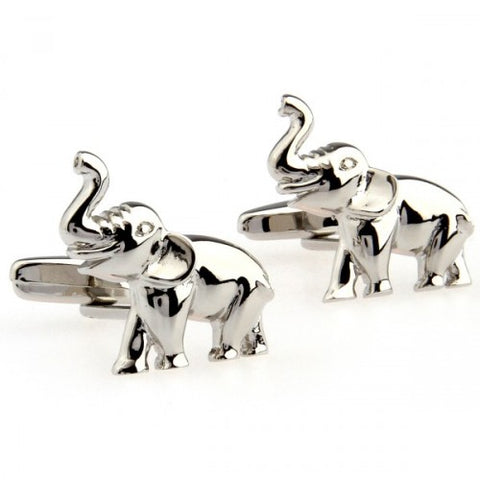 Elephant-Animal-Silver-Modalooks-Cufflinks