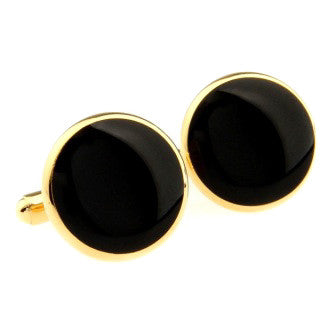 Modalooks-Formal-Classic-Gold-Black-Agate-Cufflink