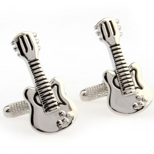 Guitar-Musical-Instrument-Silver-Modalooks-Cufflinks-Close-Up