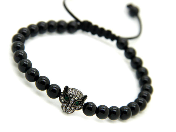 Ruthenium Plated Leopard - Onyx