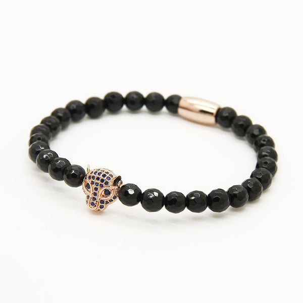Leopard with Facted Onyx