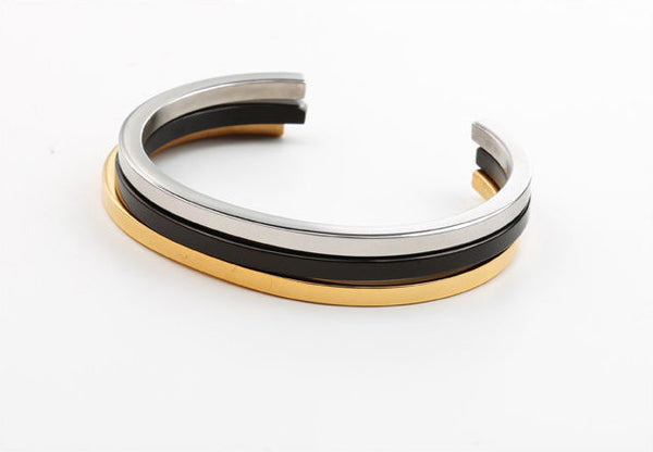 Modalooks-Bangles-Bracelet-Women-Men-Unisex-Female-Male-Plated-White-Gold-Ruthenium