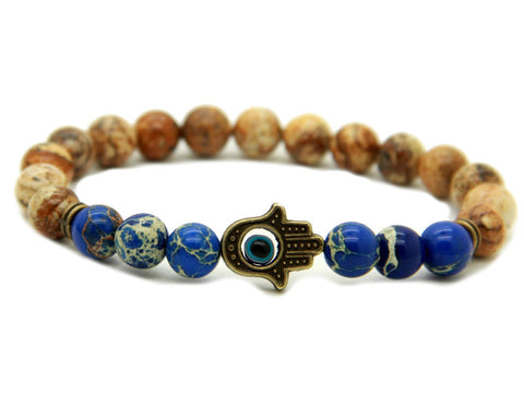Modalooks-Bracelet-Men-Male-Hamsa-Hand-Picture-Jasper-Sea-Sediment-Blue-Front