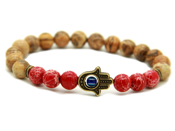 Modalooks-Bracelet-Men-Male-Hamsa-Hand-Picture-Jasper-Sea-Sediment-Red