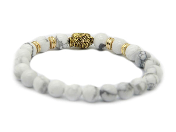 Modalooks-Bracelet-Women-Men-Unisex-Female-Male-Buddha-Howlite-Gold-Back