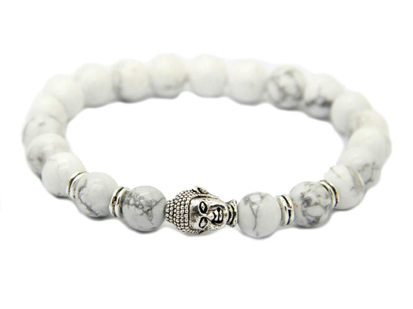Modalooks-Bracelet-Women-Men-Unisex-Female-Male-Buddha-Howlite-Silver