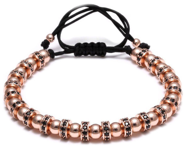 Modalooks-Bracelet-Women-Men-Unisex-Female-Male-Macrame-Plated-Multi-Stopper-Ball-Rose-Gold