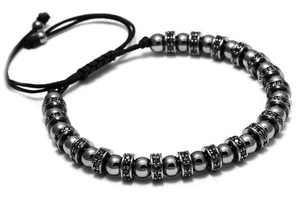 Modalooks-Bracelet-Women-Men-Unisex-Female-Male-Macrame-Plated-Multi-Stopper-Ball-Ruthenium-Side