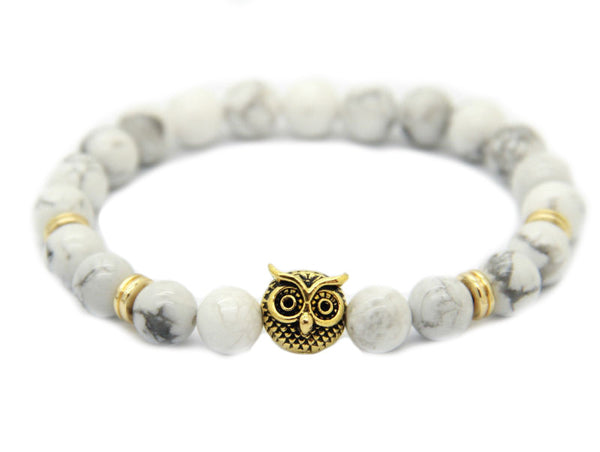 Modalooks-Bracelet-Women-Men-Unisex-Female-Male-Owl-Howlite-Gold