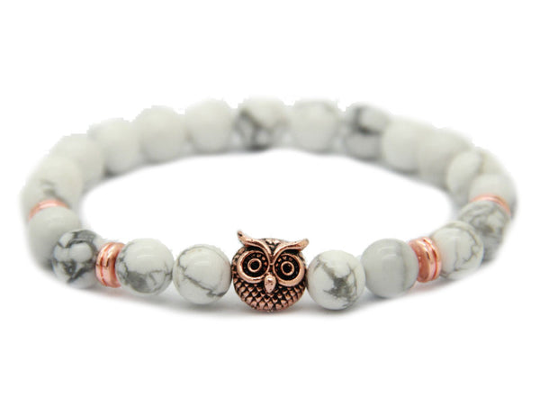 Modalooks-Bracelet-Women-Men-Unisex-Female-Male-Owl-Howlite-Rose-Gold