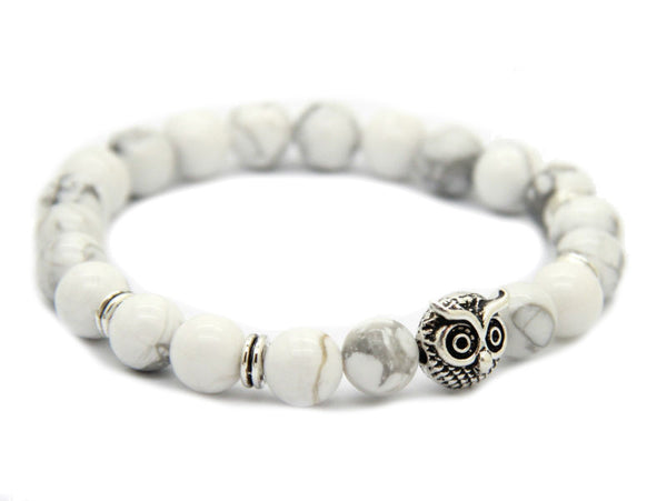 Modalooks-Bracelet-Women-Men-Unisex-Female-Male-Owl-Howlite-White-Gold-Side