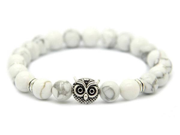 Modalooks-Bracelet-Women-Men-Unisex-Female-Male-Owl-Howlite-White-Gold