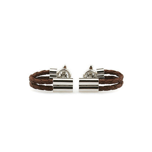 Modalooks-Casual-Brown-Leather-Chain-Cufflink-Double