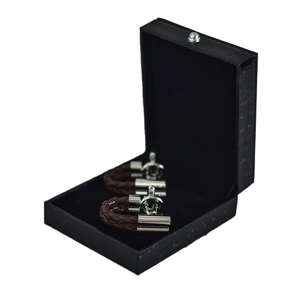 Modalooks-Cufflinks-Inside-Gift-Box-Brown-Chain