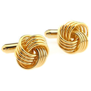 Modalooks-Formal-Gold-Twist-Knot-Cufflink-Double-Close-Up