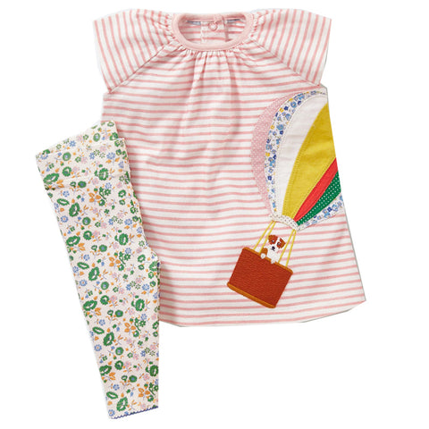 Modalooks-Kidslooks-Bambinilooks-Balloon-Set-Pants-Shirt-Cotton-Short-Sleeve