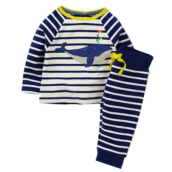 Modalooks-Kidslooks-Bambinilooks-Blue-Whale-Set-Pants-T-Shirt-Cotton-Long-Sleeve