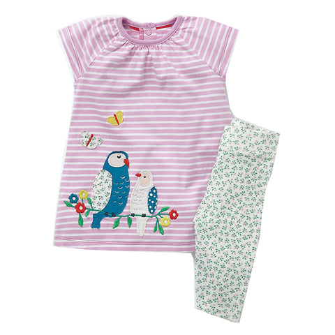 Modalooks-Kidslooks-Bambinilooks-Lovely-Birds-Set-Pants-Shirt-Cotton-Short-Sleeve