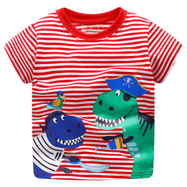 Modalooks-Kidslooks-Bambinilooks-Pirate-Dinosaurs-T-Shirt-Cotton-Short-Sleeve-13