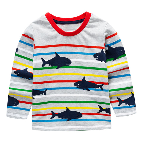 Modalooks-Kidslooks-Bambinilooks-Sharks-Long-Sleeve-Shirt-Cotton