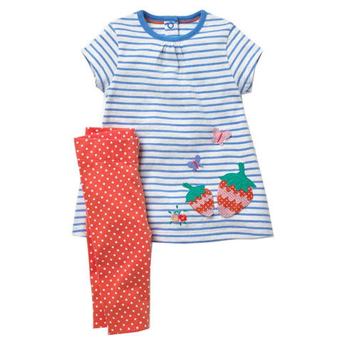 Modalooks-Kidslooks-Bambinilooks-Strawberry-Set-Pants-Dress-Cotton-Short-Sleeve