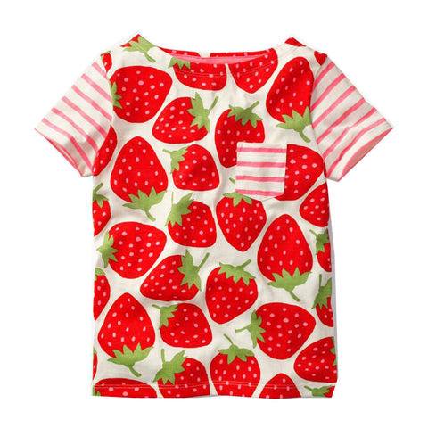 Modalooks-Kidslooks-Bambinilooks-Strawberry-T-Shirt-Cotton-Short-Sleeve