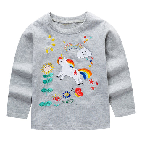 Modalooks-Kidslooks-Bambinilooks-Unicorn-Long-Sleeve-Shirt-Cotton
