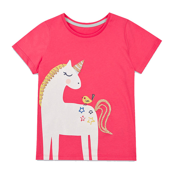 Modalooks-Kidslooks-Bambinilooks-Unicorn-T-Shirt-Cotton-Short-Sleeve