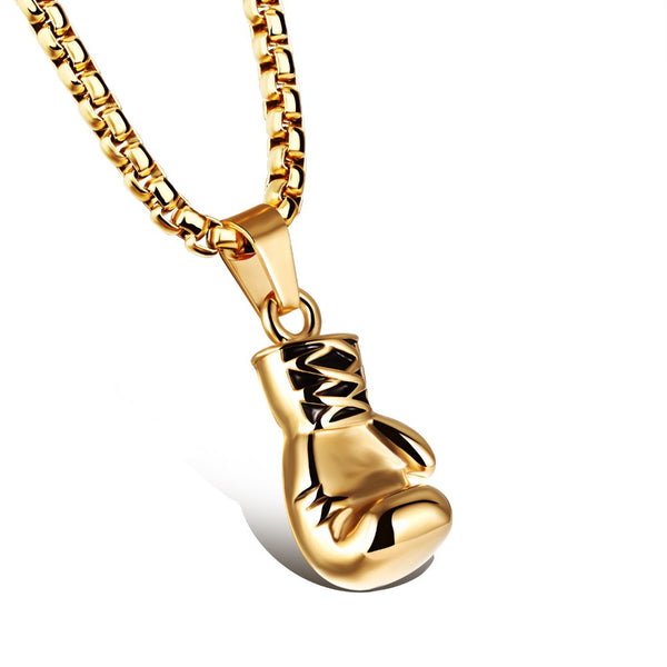 Modalooks-Mens-Boxing-Glove-Necklace-18K-Gold-Plating-316L-Stainless-Steel-Base