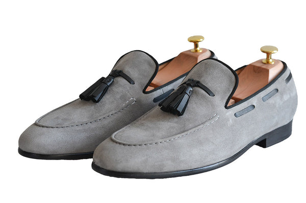 Modalooks-Suede-Goat-Leather-Handmade-Shoes-Loafers-Dapper-Front-Shot