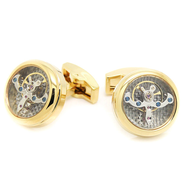 Modalooks-Tourbillon-Watch-Movement-Cufflink-Stainless-Steel-Gold-Plated
