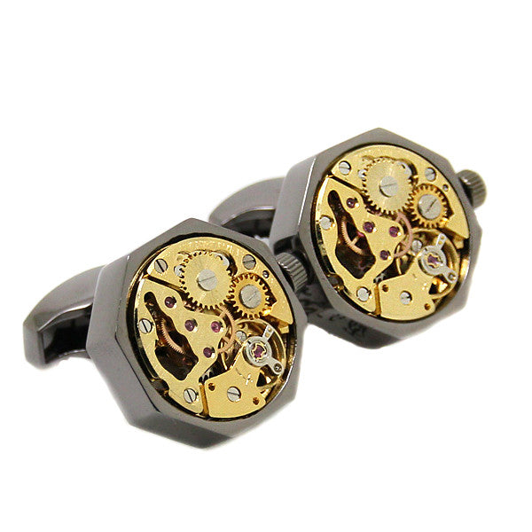 Modalooks-Tourbillon-Watch-Movement-Cufflink-Stainless-Steel-Ruthenium-Gold-Plated