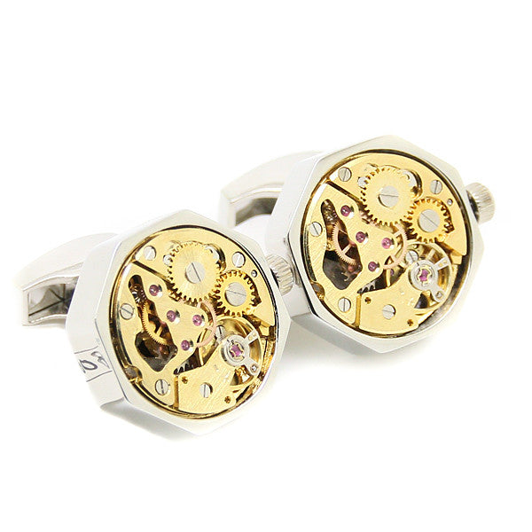 Modalooks-Tourbillon-Watch-Movement-Cufflink-Stainless-Steel-White-Gold-Plated