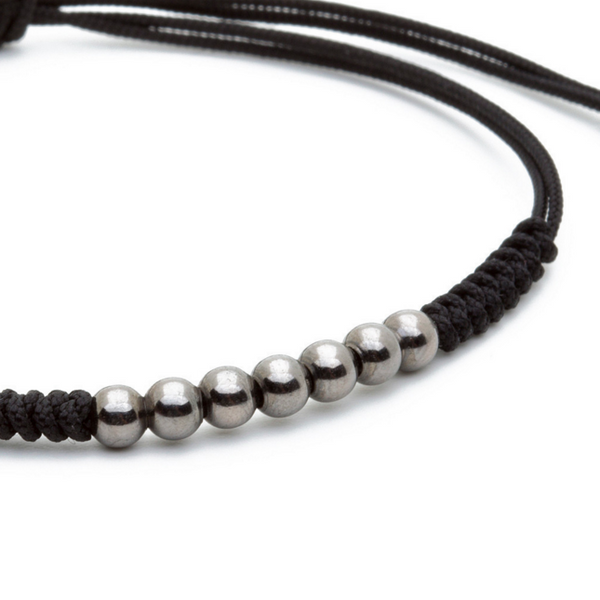 Modalooks-Ruthenium-Plated-4mm-7-Balls-Waxed-Cord-Macrame-Bracelet-Close-Up
