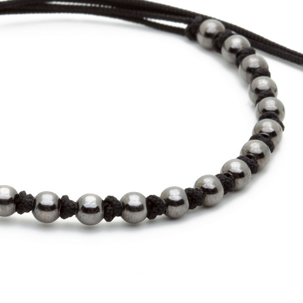 Modalooks-Ruthenium-Plated-4mm-Balls-Waxed-Cord-Macrame-Bracelet-Black-Close-Up