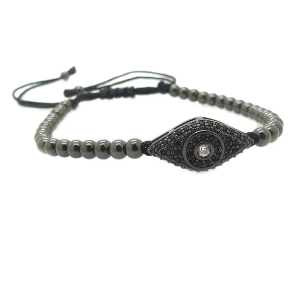Modalooks-Ruthenium-Plated-Cat-Eye-CZ-4mm-Balls-Macrame-Bracelet-Side