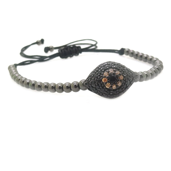Modalooks-Ruthenium-Plated-Evil-Eye-CZ-4mm-Balls-Macrame-Bracelet-Side