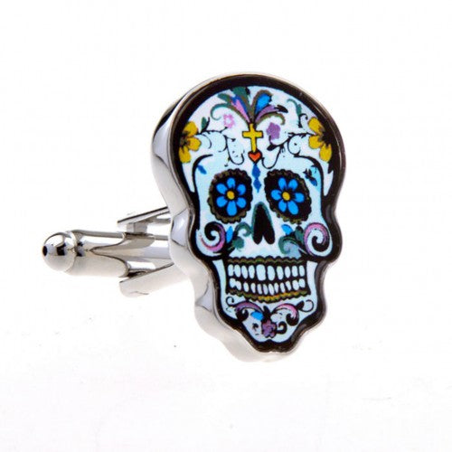 Skull-Colourful-Silver-Cuffinks-Modalooks-Close-Up