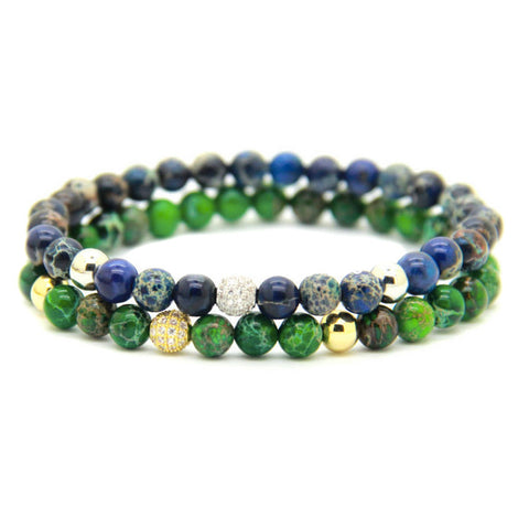 Modalooks-Stack-18K-White-Gold-Sea-Green-Blue-Sediment-CZ-Beads-Bracelet