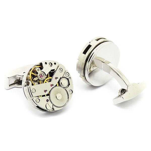 Modalooks-Tourbillon-Watch-Movement-Cufflink-Stainless-Steel-Plated-Back-View