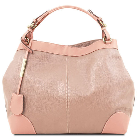 Ambrosia - Soft leather shopping bag with shoulder strap