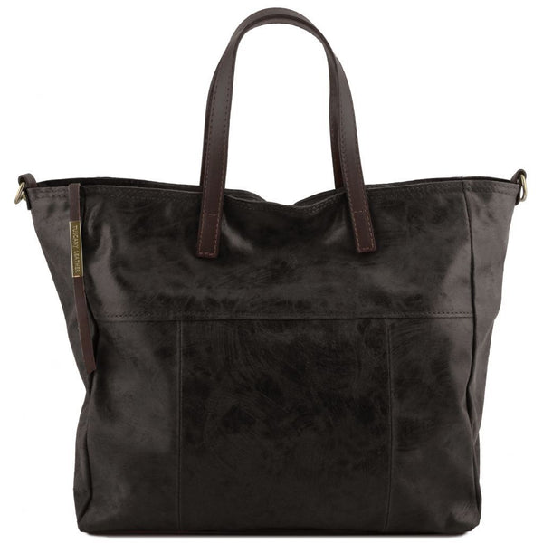 Annie - Aged effect leather TL SMART shopping bag